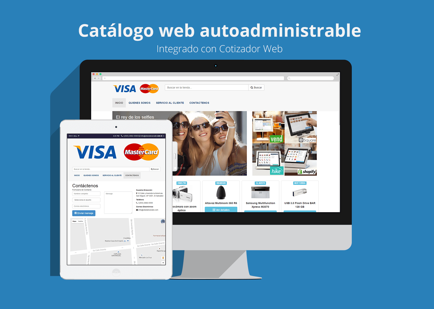 Catálogo web autoadministrable