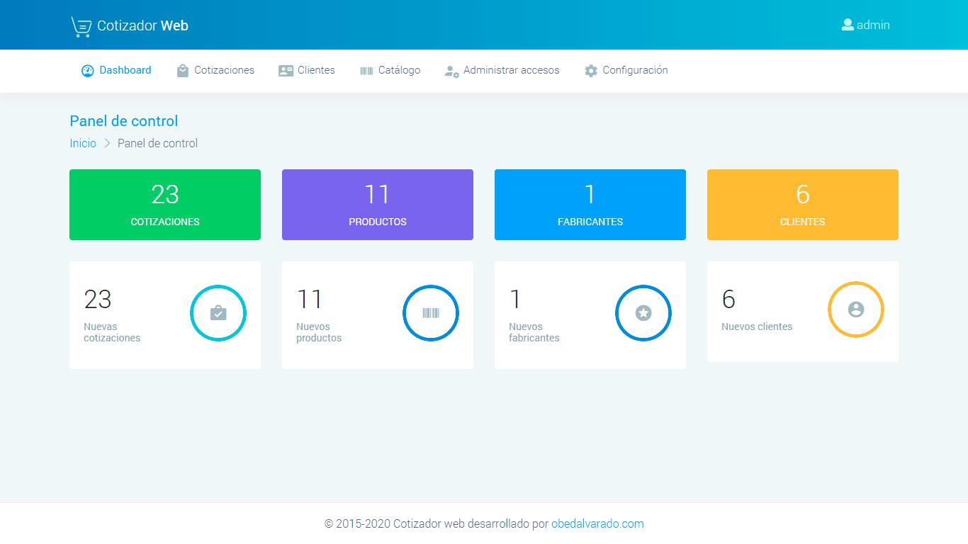sistema web de cotizaciones