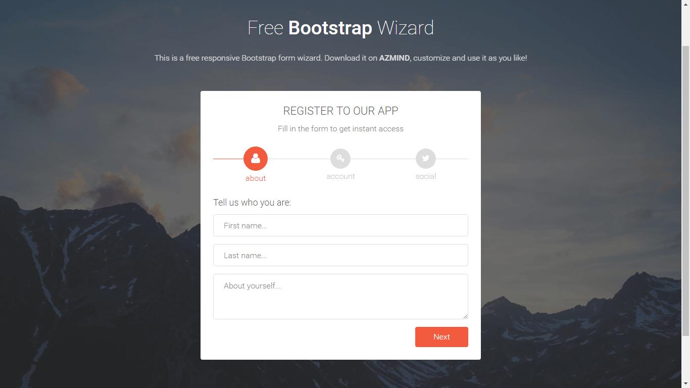 Formularios Bootstrap Wizard gratis - Sistemas Web
