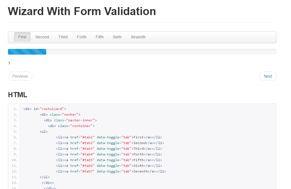 Wizard With Form Validation