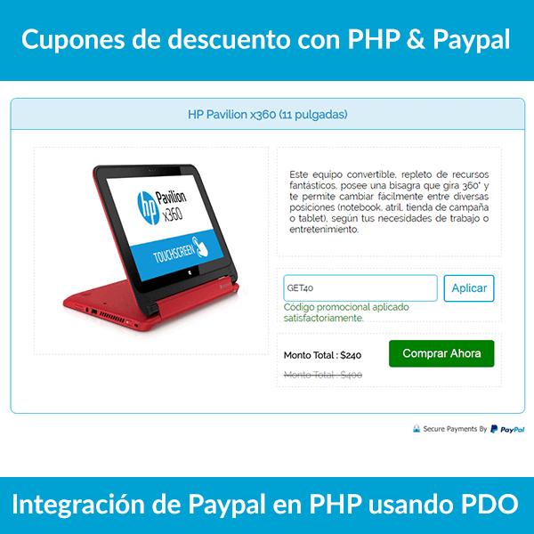 Integración de Paypal en PHP
