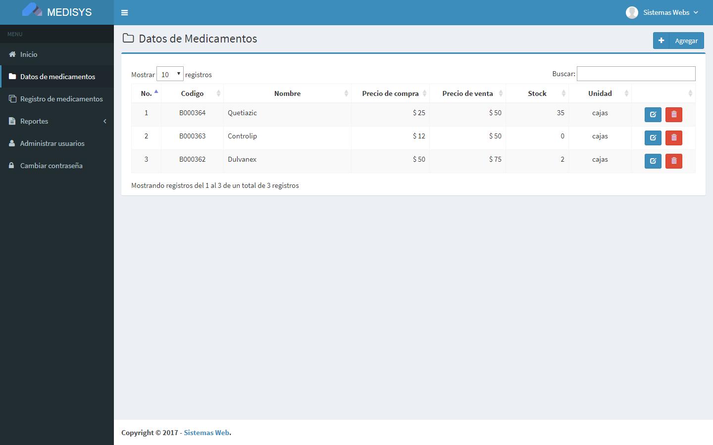 Sistema web de inventario de medicamentos con PHP y MySQL - Sistemas Web