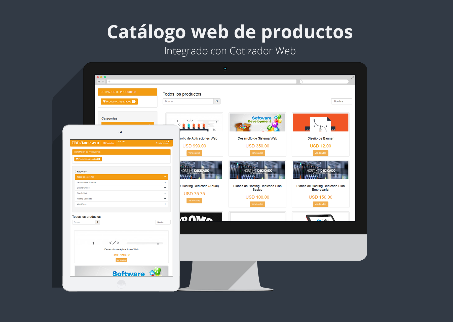 catalogo web de productos