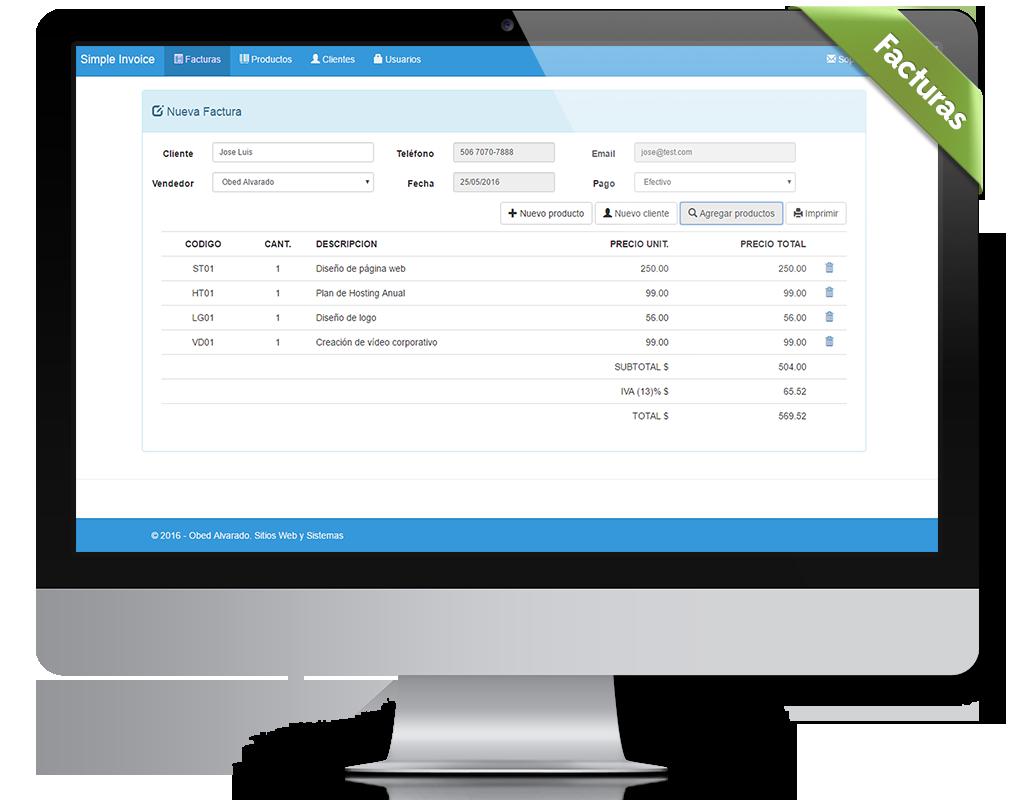 Sistema de facturación con PHP - Pack de plantillas de facturas