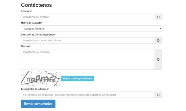 Formulario de Contacto con Captcha usando PHP y Bootstrap 3